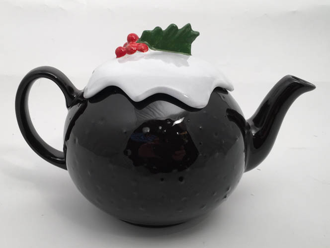 Brown Betty 6 Cup Christmas Pudding Teapot
