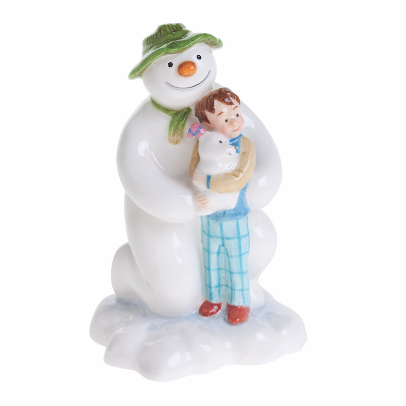 Raymond Briggs The Snowman Christmas Tree Decorations: The Snowman Kneeling With Billy And The Snow Dog By Beswick