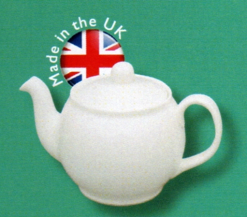 White Bone China Betty 2 Cup Teapot