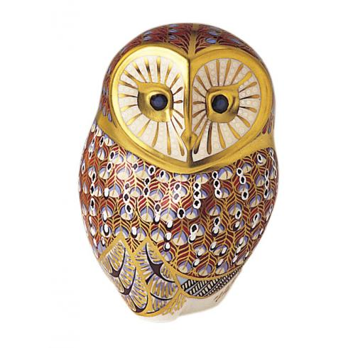 Barn Owl Paperweight By Royal Crown Derby